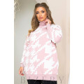 Трендовый свитер oversize в розовом цвете B1168