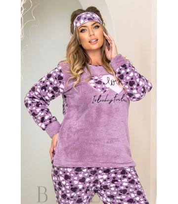 Уютный пижамный комплект в фиолетовом цвете B1184