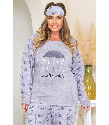 Уютный пижамный комплект в лавандовом цвете B1185