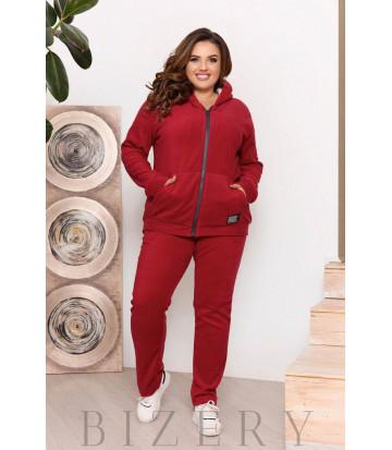 Зимний костюм в бордовом цвете B1205