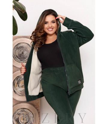 Зимний костюм в темно-зеленом цвете B1206