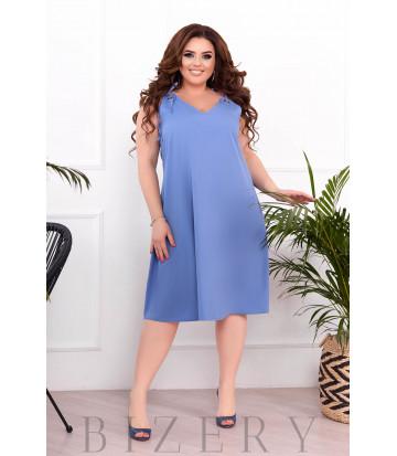 Летнее платье-сарафан цвет джинс В897