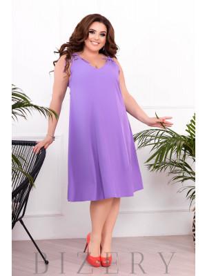 Летнее платье-сарафан цвет фиолетовый В899