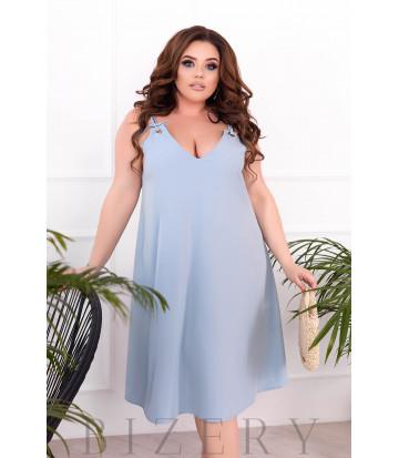 Летнее платье-сарафан цвет синяя дымка В900