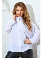 Блузка свободного кроя в белом цвете В823