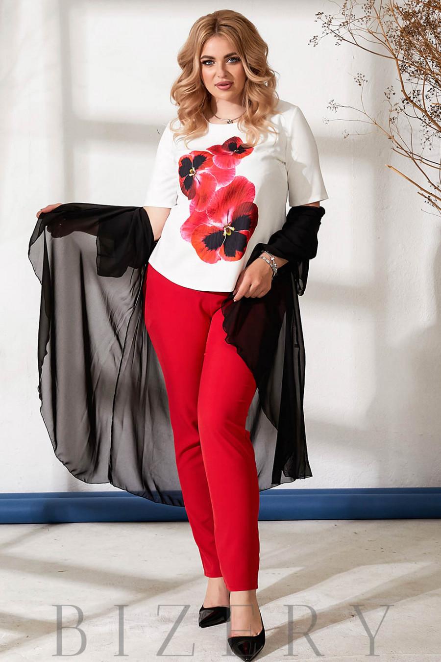 Шикарный костюм тройка красный В881