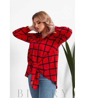 Женская блузка большого размера в красном цвете B1062