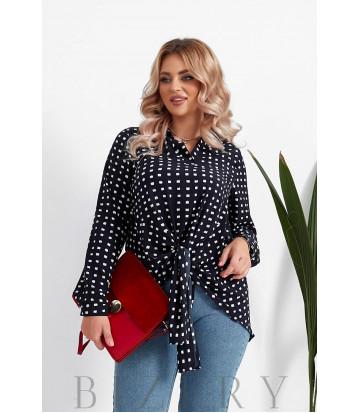 Женская блузка большого размера в черном цвете B1063