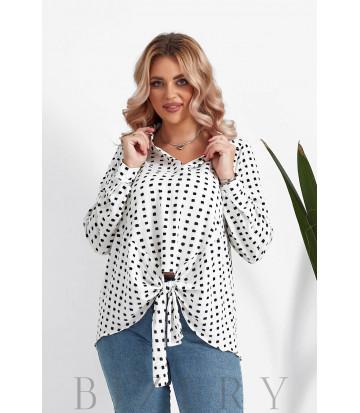 Женская блузка большого размера в белом цвете B1064