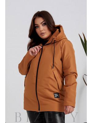 Женская курточка в горчичном цвете B1124