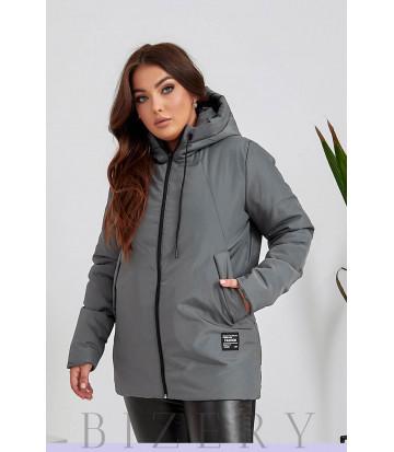 Женская курточка в сером цвете B1125