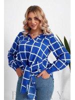 Женская блузка большого размера в цвете электрик B1061