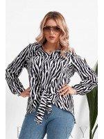Женская блузка большого размера принт зебра B1069