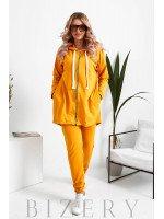 Женский костюм свободного кроя в желтом цвете B1070
