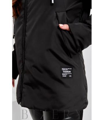 Женская курточка в черном цвете B1123