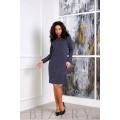 Платье повседневное из мягкой ткани ангора-софт B380