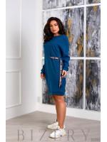 Повседневное платье полу-спорт в синем цвете B385