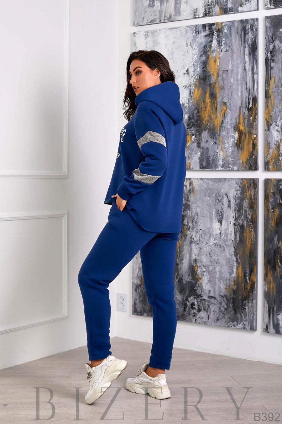 Утеплённый костюм из трёхнитки на флисе B392