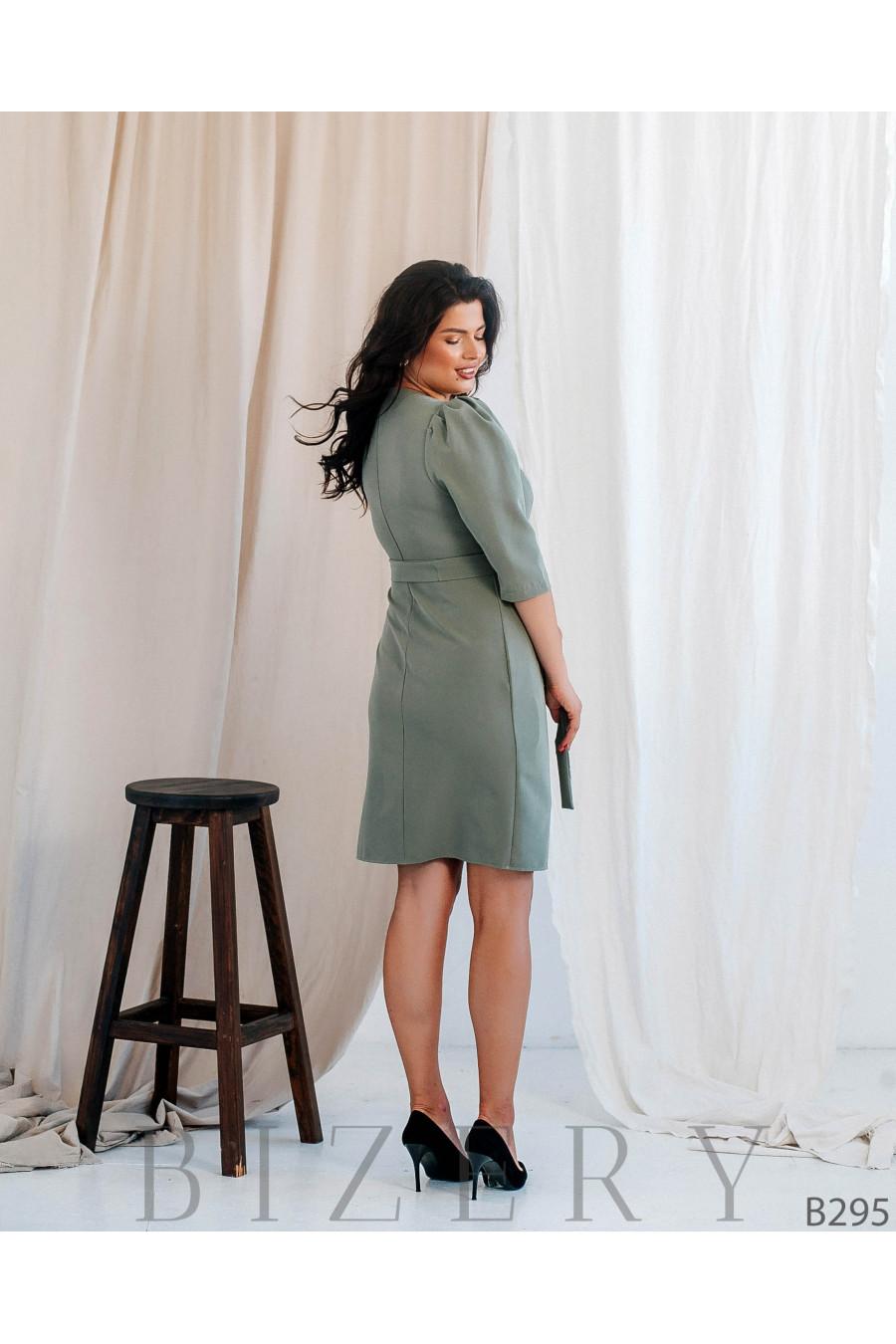 Коктейльное платье футляр большого размера B295