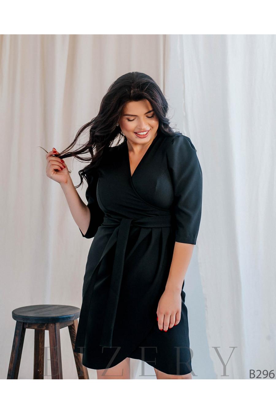 Коктейльное платье футляр большого размера B296