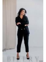 Брючный костюм черного цвета B301
