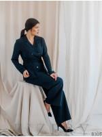 Современный женский костюм с V-образным вырезом на спинке B305