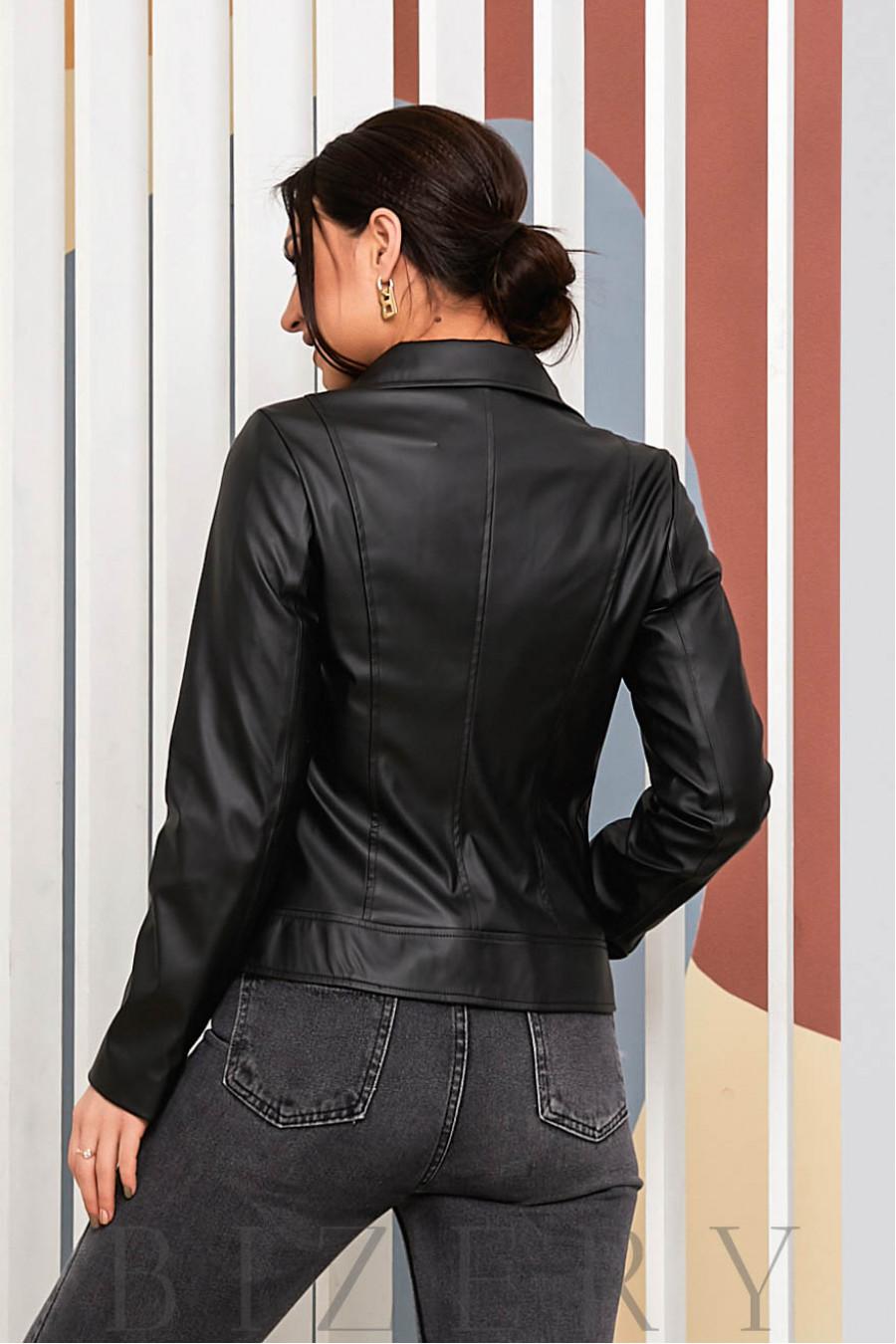 Стильная женская косуха черная В699