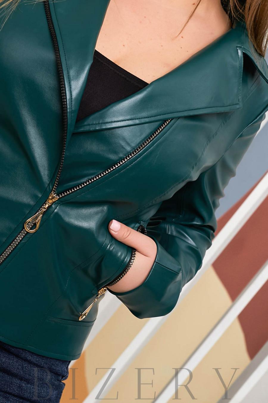 Стильная женская косуха зеленая В701