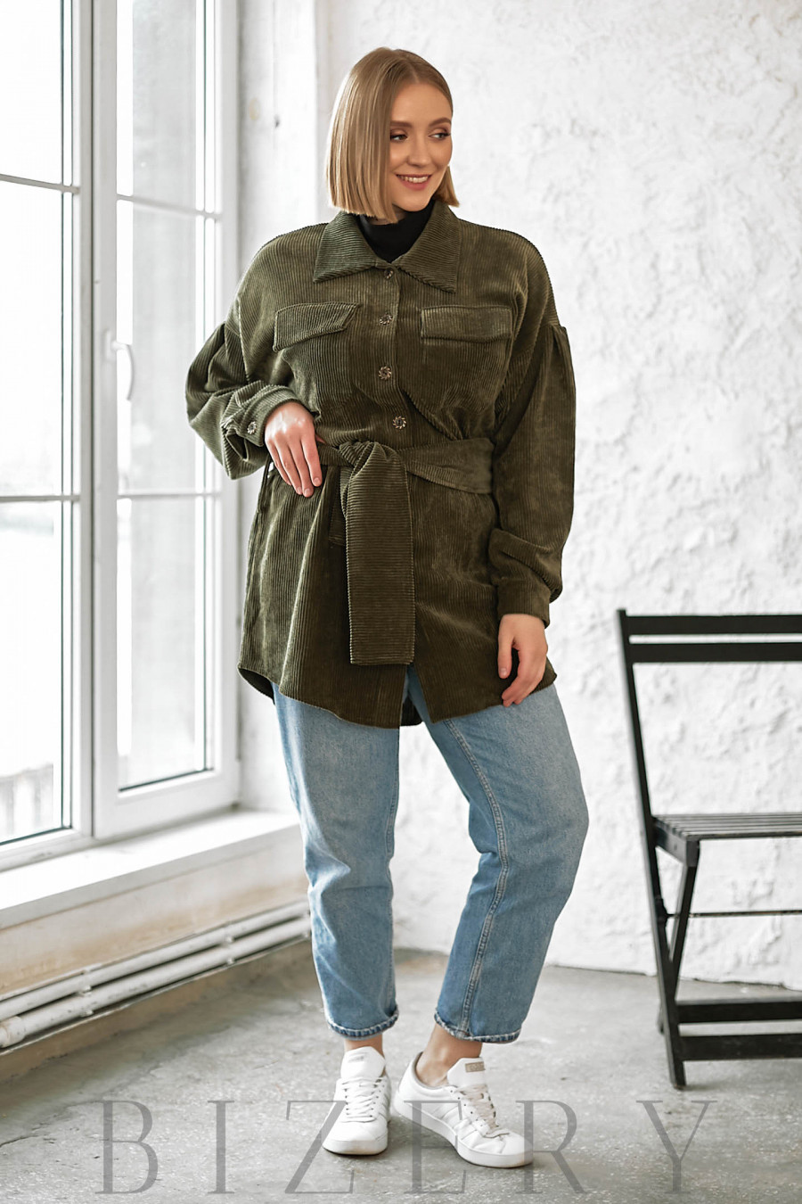 Рубашка женская вельветовая В729