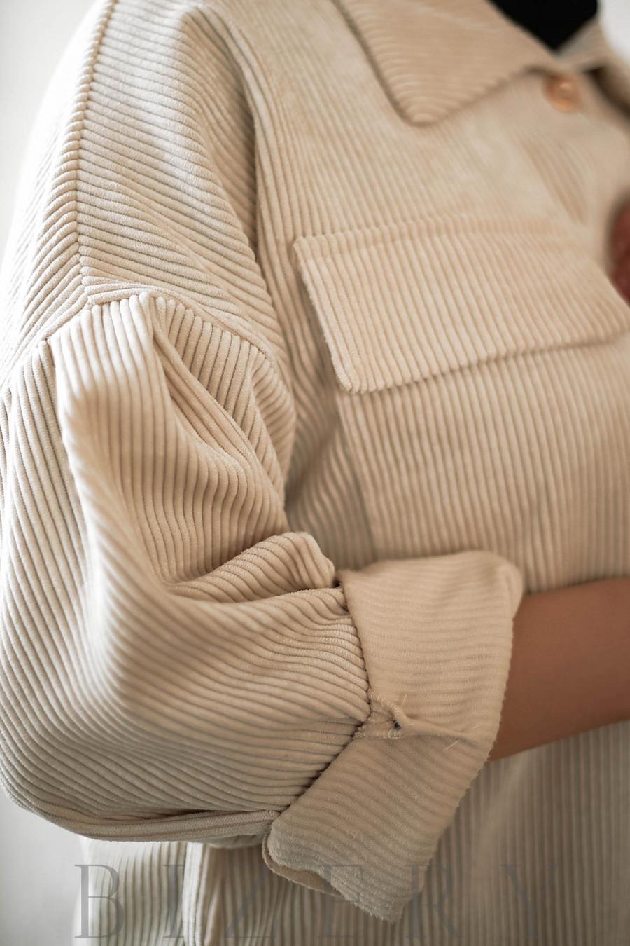 Рубашка женская вельветовая В730