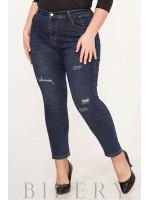 Эластичные джинсы типа skinny В635