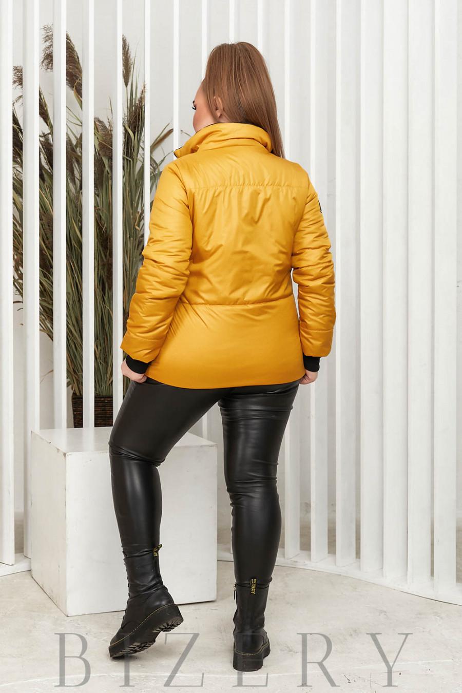 Куртка горчичного цвета В643