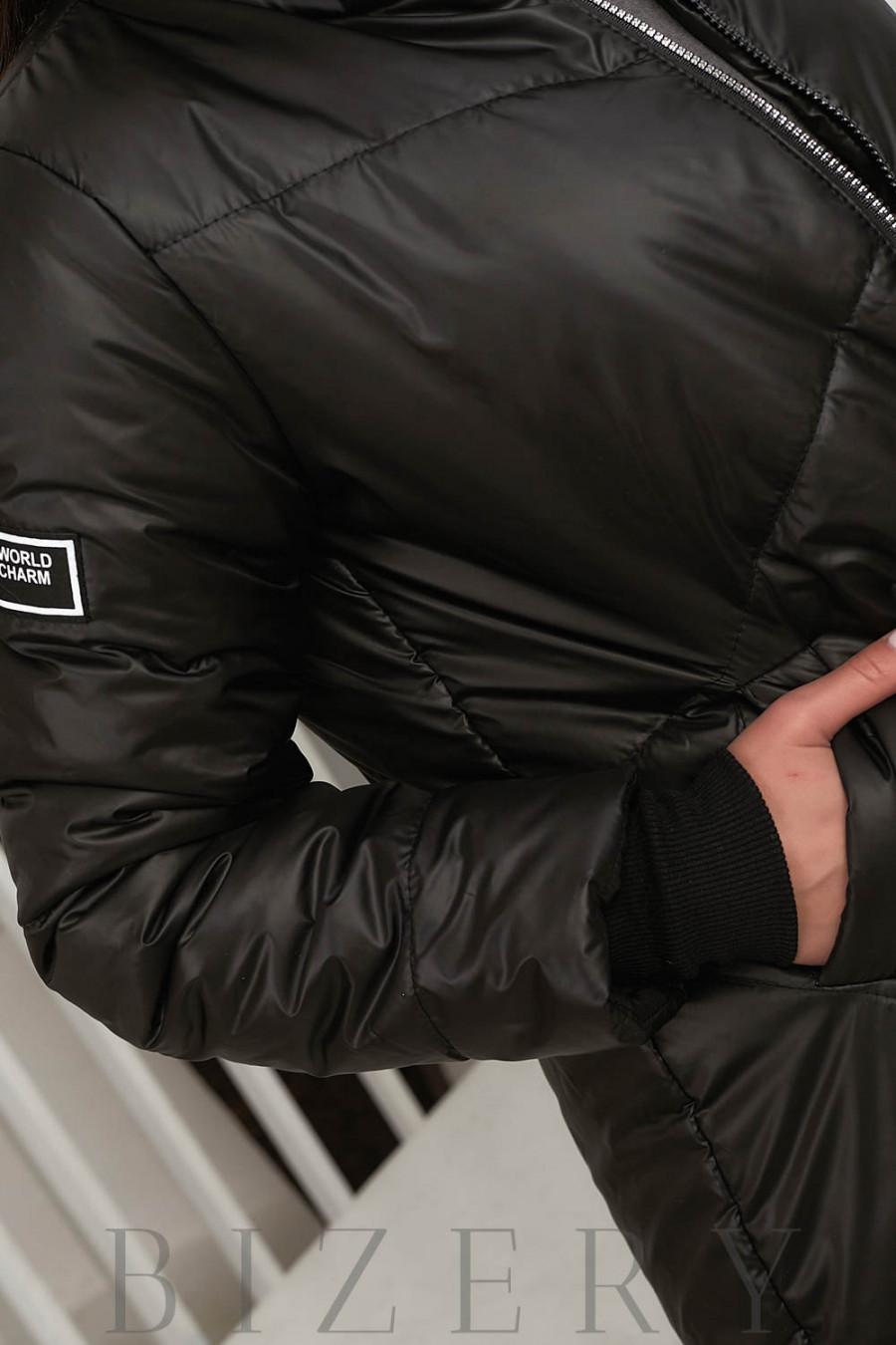 Куртка чёрного цвета В645