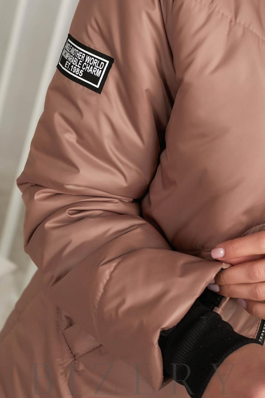 Куртка цвета мокко В646
