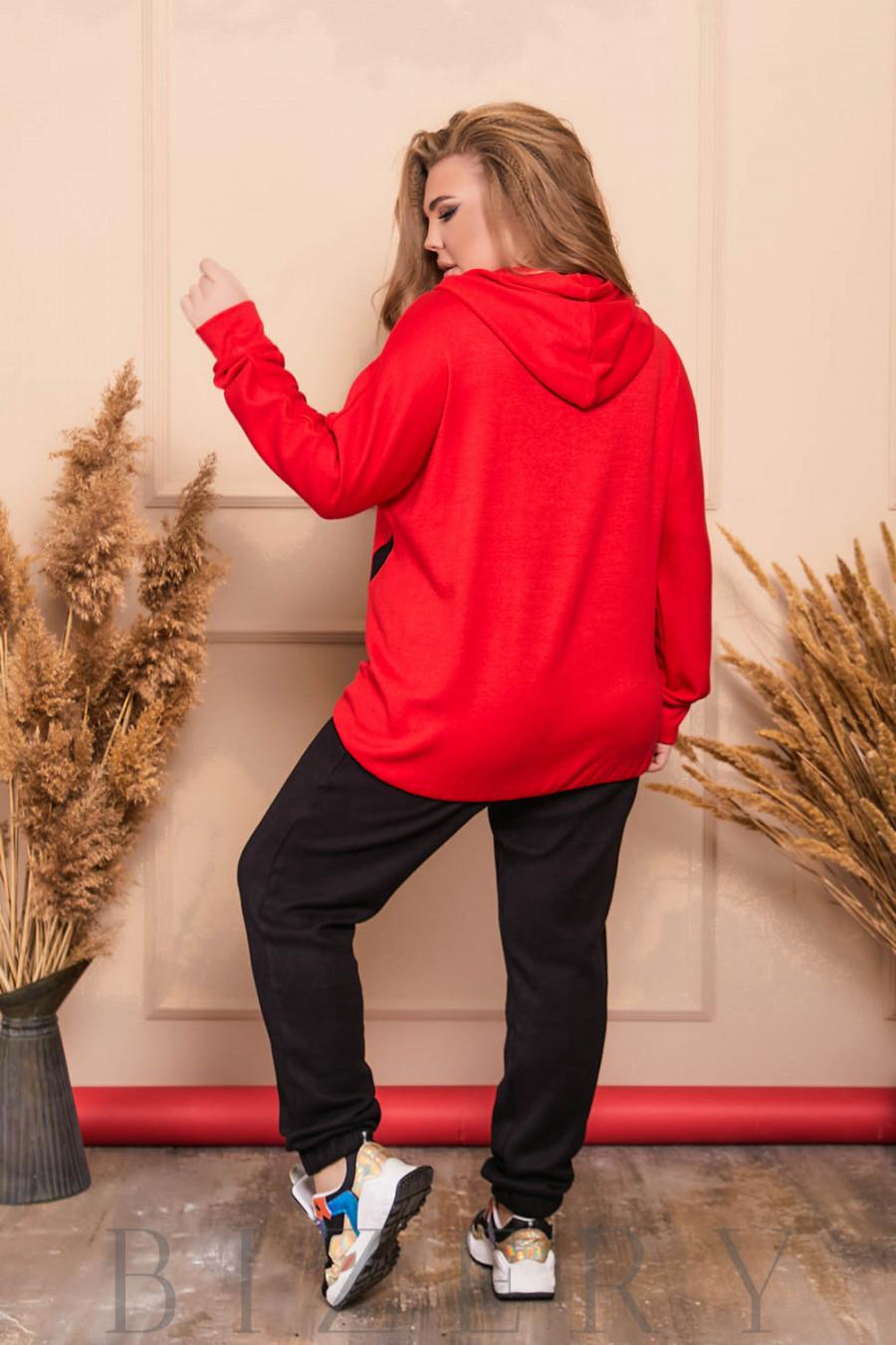 Стильный спортивный костюм в красном цвете B507