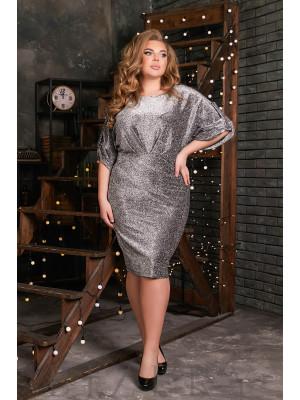Шикарное вечернее платье в цвете металлик B512