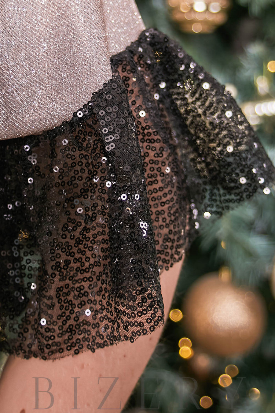 Блистательное вечернее платье в нежно-пудровом цвете B515