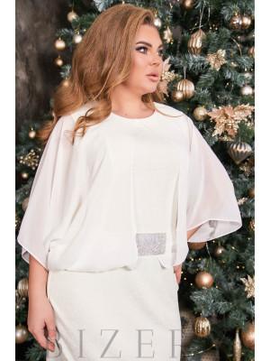 Шикарное вечернее платье в  цвет слоновой кости B514