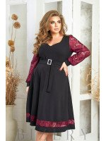 Элегантное платье в чёрном цвете В572