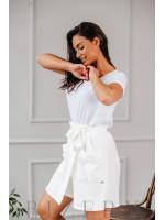 Шорты-юбка на запах белые