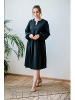 Платье чёрное свободного кроя с длинным рукавом
