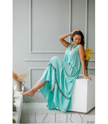 Длинное платье разлетайка из штапеля