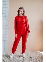 Повседневный костюм полу-спорт красный