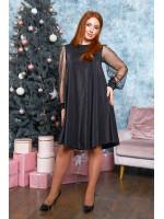 Платье А-силуэта в чёрном цвете B534