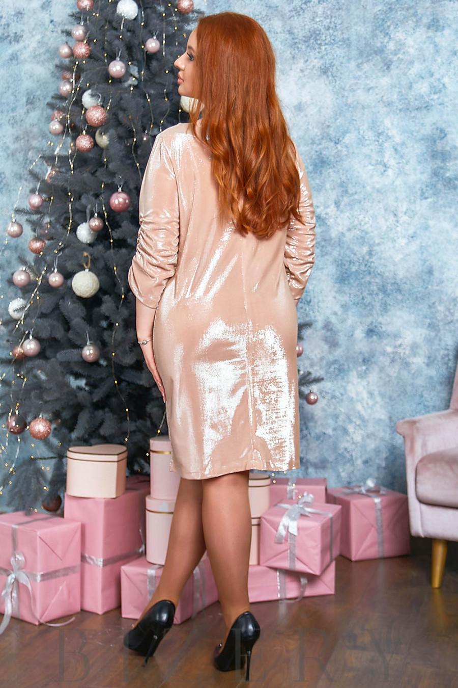 Платье мини с блеском B555