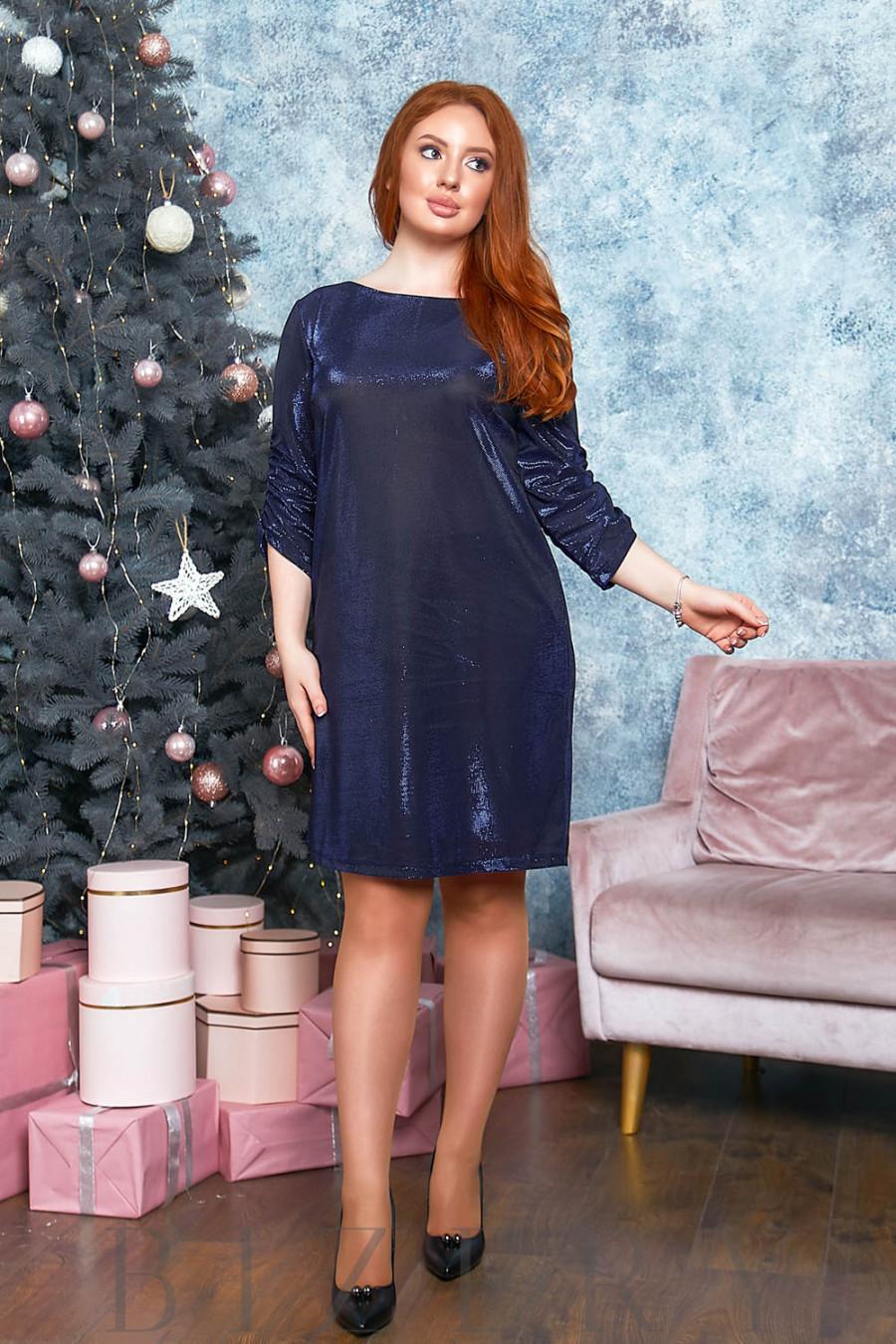 Платье мини с блеском B556