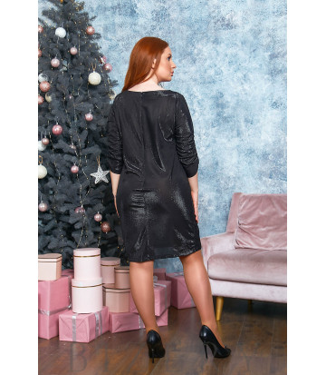 Платье мини с блеском B557