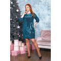 Платье мини с блеском B554