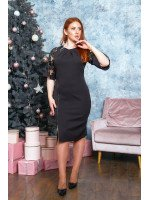 Утончённое платье в чёрном цвете B538