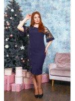 Утончённое платье в тёмно- синем цвете B539